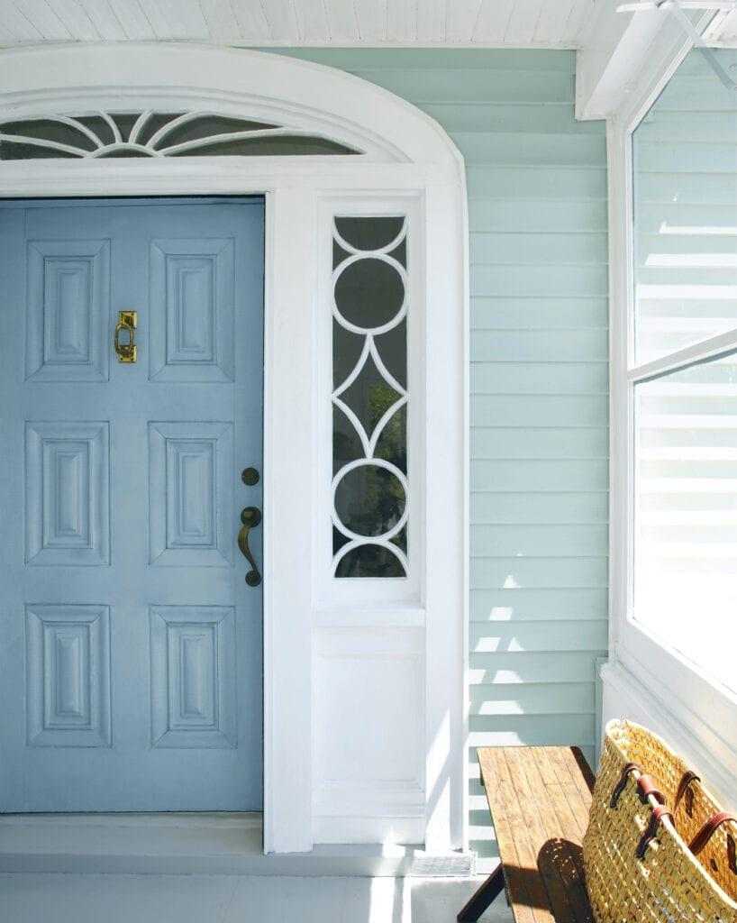 Door: HC-145 Van Courtland Blue   Siding: HC-146 Wedgewood Gray