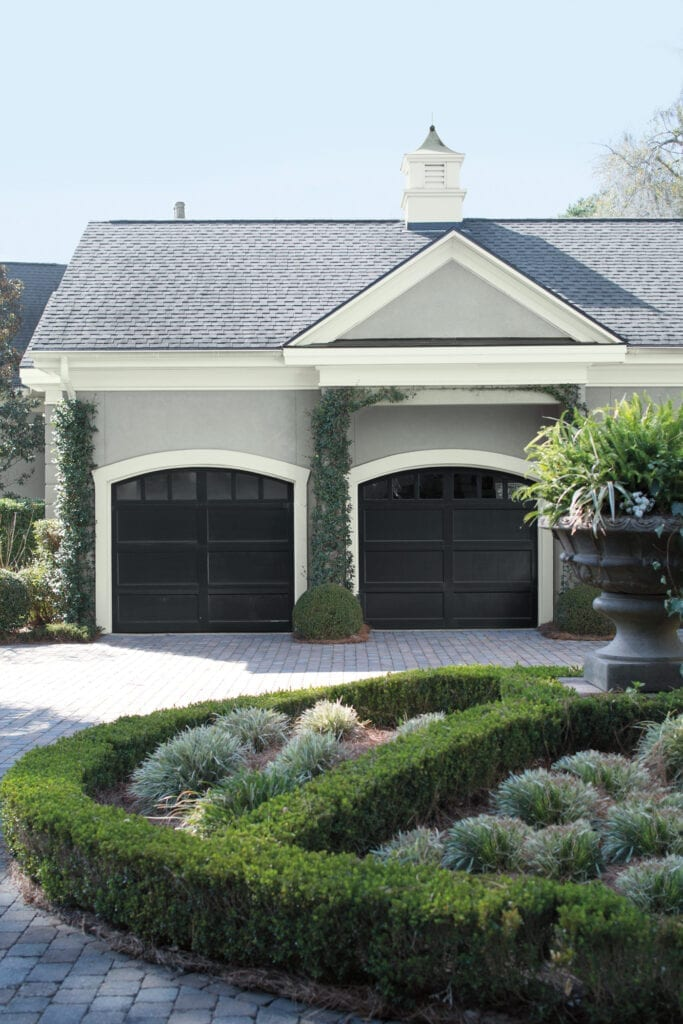 Main: HC-169 Coventry Gray  Doors: 2124-10 Wrought Iron  Trim: AF-5 Frostine