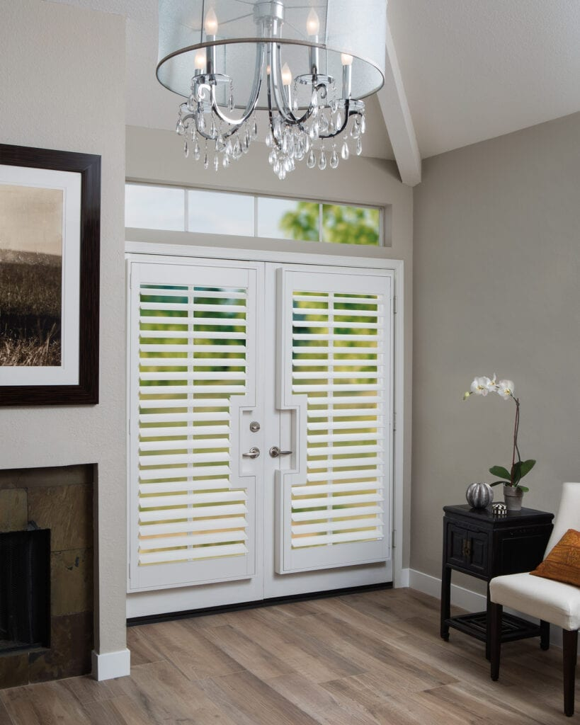 NewStyle® Plantation Shutters with French Door cutouts