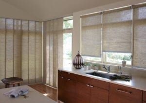 Designer Screen Shades with coordinating Skyline® Gliding Panels