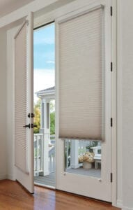 Duette® Honeycomb Shades with magnetic hold down brackets
