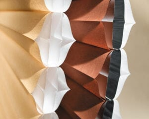 Closeup of Duette® Architella® Honeycomb fabrics