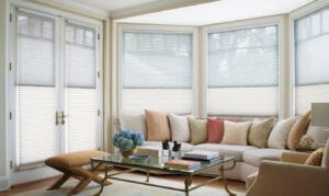 Duette® Honeycomb Shades with DuoLite® feature and LiteRise® cordless feature