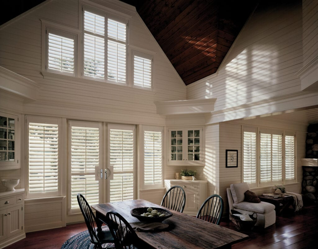 Heritance® Plantation Shutters with French Door cutouts