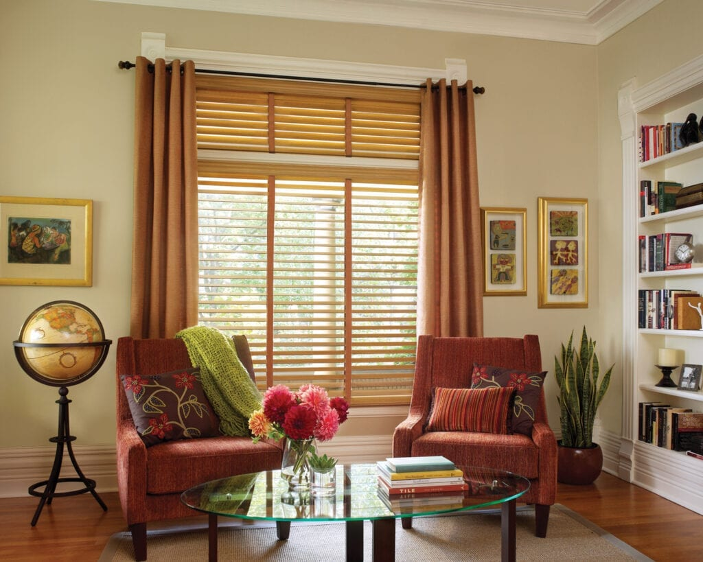 Parkland® Wood Blind with cloth ladder tapes