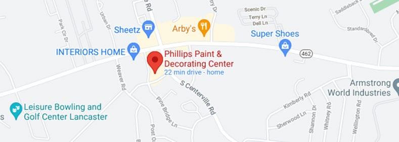 Phillips Paint map location