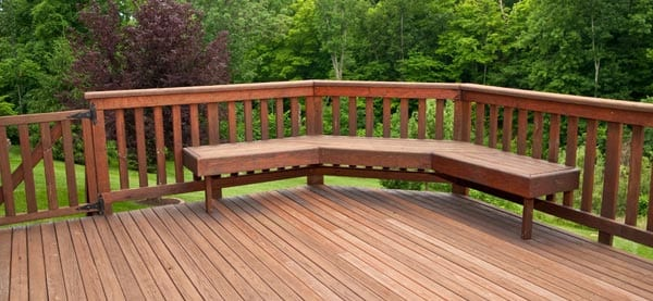 Wooden stained deck